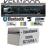 Skoda Octavia 1 1U - Autoradio Radio Kenwood KDC-X5100BT - Bluetooth CD/MP3/USB VarioColor Einbauzubehör - Einbauset