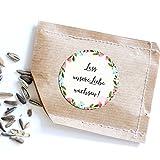 Nastami 50 Sticker Lass unsere Liebe wachsen!, Aufkleber Hochzeit Gastgeschenk