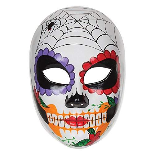Bristol Novelty PM132 Day Of The Dead, Damen, Mehrfarbig, One Size (Spider Halloween Make-up Ideen)
