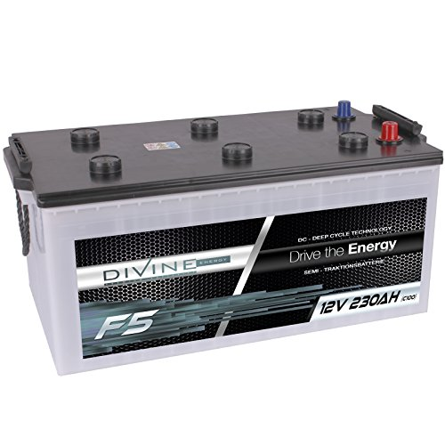 Divine 12V 230Ah Solarbatterie Mover Versorgungsbatterie Wohnmobil Boot Marine Camping Batterie Wartungsfrei