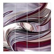 Materiale:- Set di 4 tende a pannello da 250 x 60cm (AxL) ciascuna- 100% poliestere, 200g/m² peso ed elevata qualità- Tessuto sottile e liscio- Senza PVC- Opaco, traslucido- Accorciabile- Caduta uniforme senza grinze- Resistente agli strappi ...