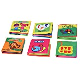 Goolsky Coolplay Babys erste ungiftige Stoff Buch 6 Stück Waschbare weiches Tuch-Buch Early Education Intelligente Spielzeug für Kleinkind Kleinkind Kinder lernen
