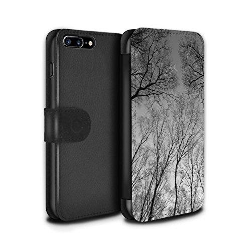 Stuff4 Coque/Etui/Housse Cuir PU Case/Cover pour Apple iPhone 7 Plus / Ciel Gris Design / Hiver Saison Collection Ciel Gris