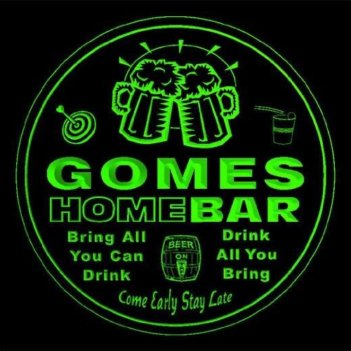 4x-ccq17198-g-gomes-family-name-home-bar-pub-beer-club-gift-3d-coasters