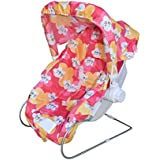 Flipzon Multipurpose 9 In 1 Baby Carry Cot With Mosquito Net And Sun Shade (Pink)