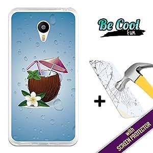 BeCool® Fun - Coque Etui Housse en GEL Flex Silicone TPU Meizu M2 Note [ +1 Protecteur Verre Trempé ] , protège et s'adapte a la perfection a ton Smartphone et avec notre design exclusif. Coco-Loco