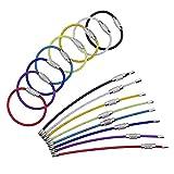 Edelstahl Draht Schlüsselanhänger Stahldraht Farbe Stahl Schlüsselring (2 mm, 4 Zoll, 16 Pack)