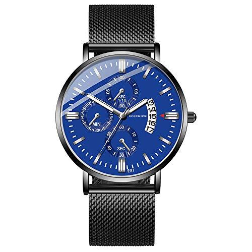 XZDCDJ Quartz Uhr Herren Digital Armbanduhr Herren Analog Date Slim Alloy Kleid Armbanduhr Wasserdicht G