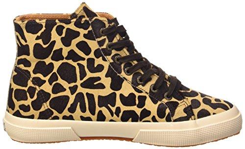 Superga 2095-Plus Leahorsew, Sneaker, Donna L77 Beige-Dk Brown Fow