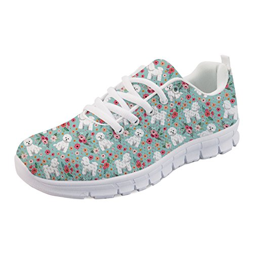 ColoranimalK H849AQ2 Frise Bichon Donna Flower Casual Coloranimal 5dqx45