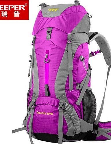HWB/ 65L L Rucksack Reisen Draußen Multifunktions Rot / Blau Nylon ??? Blue