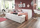 Relita EB1585117 Funktionsbett, Holzwerkstoff, Weiß, 95 x 205 x 90 cm