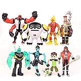 Conjunto de 9 Ben 10: Supremacía Alienígena Juguetes de Figuras de acción Colecciones de muñecas de PVC Conjuntos de Juguetes