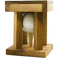 Woods Handicap - Das Golfrätsel –Personalisiert mit [Text] - Knobelspiele aus Holz inkl. Golfball – Lustige Golf Geschenke - Geschenke für Golfer – Golfball Geschenk – Geschenkpackung für Golfbälle