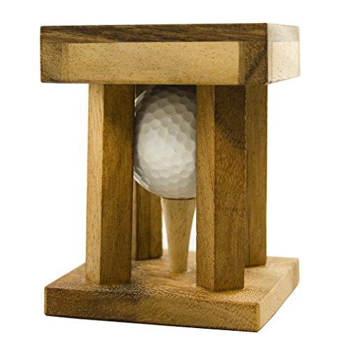 Woods Handicap - il rompicapo del golf – personalizzato con [testo] - rompicapi in legno incl. pallina da golf – regali golf divertenti - regali per golfisti – regalo con pallina da golf – confezione regalo per palline da golf speciali