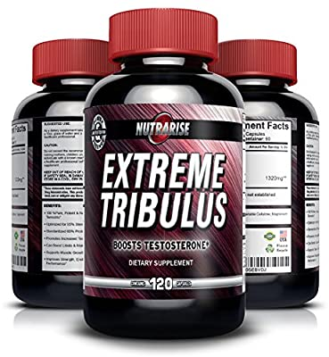 Pure Bulgarian Tribulus Terrestris, Increases Libido, Strength & Stamina, Promotes Natural Testosterone Production, 95% Saponin, 80% Protodioscin, Highest Potency on Amazon, 1000mg - 120 Capsules by Nutra Rise