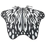 Fenverk GroßE SchmetterlingsflüGel KostüM Damen Fasching Schmetterling Weicher Gewebe FlüGel Schal Nymphen Pixie Cosplay Zusatz Umhang Mittelalter KostüMe Kleid(A,185 * 145CM)