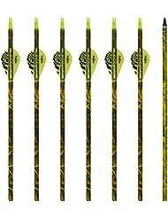 Flèche en Carbon Mixte Bangta, 31 pouces, 3 pièces de plume en plastique, Pointe de flèche remplaçable, Flèche pour l'extérieur et pour la chasse, Tir à l'Arc, Sports et loisirs