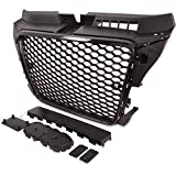 RS Style Black Badgeless Debadged Race mesh grill griglia
