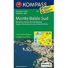Monte Baldo Süd: Wanderkarte mit Radwegen. GPS-genau. 1:25000 (KOMPASS-Wanderkarten, Band 692)