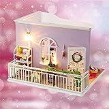 Forniture per l'istruzione Giochi d'imitazione Puzzle 3D fatti a mano in miniatura casa delle bambole fai da te cabina vivente tranquilla case delle bambole accessori per bambole case con mobili e LED migliori regali di compleanno per le donne e