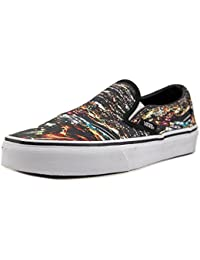 Vans Classic Slip on - Zapatillas para mujer, color black multi, talla 37