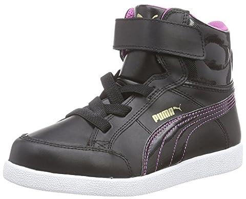 Puma Ikaz Mid, Chaussures Premiers pas bébé fille, Noir (Black/Meadow Mauve), 19 EU