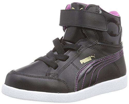 Puma Puma IKAZ MID Kids, Unisex-Kinder Hohe Sneakers Schwarz (black-meadow mauve 05)