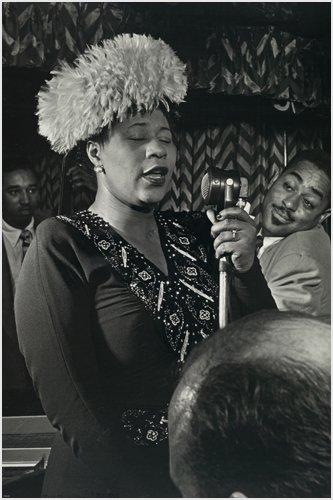 Ella Fitzgerald, Duke Ellington, Ray braun Hochformat Vintage Poster B/W 24x 36