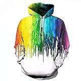 WEII Pullover, Paar Pullover, Mode 3D Digitaldruck Pullover, Herbst Und Winter Kapuzenpullover -