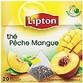 Lipton Thé Noir Thé Pêche Mangue 20 Sachets 36 g