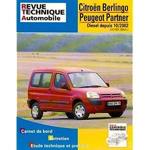 Revue Technique 688.1 Berlingo/Partner Depuis 2002/2.0 Hdi 90cv