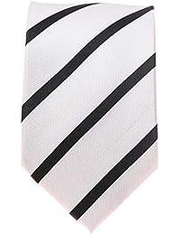Seidenkrawatte Krawatte weiß 8 cm breite 100 % Seide verschiedene Modelle