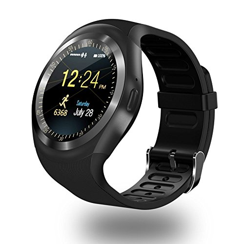 SAMPI Samsung C3200 Monte Bar Compatible Bluetooth Smart Watch / Wrist Watch with Sim Card Support Calling | Facebook and WhatsApp | Touch Screen | Multilanguage | Activity Trackers |Video Recording | Phone Book | Smartwatch Phone with Camera TF SIM Card Slot | Compatible with 2G 3G 4G Android Mobile Phones & IOS Samsung Vivo Sony Gionee Xiaomi Redmi MI Lenevo Motorola Oppo HTC Google Micromax Intex (Y1_Black)  available at amazon for Rs.1999