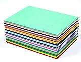 50 St. Schaumstoff zum Basteln Zuschnitt DIN A5 2mm dick EVA Schaumstoffplatten beschreibbar Bastelbogen wie Moosgummi top Qualität wasserfest