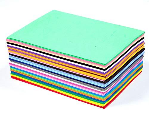 50 St. Schaumstoff zum Basteln Zuschnitt DIN A5 2mm dick EVA Schaumstoffplatten beschreibbar Bastelbogen wie Moosgummi top Qualität wasserfest -