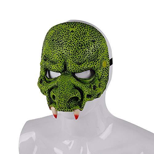 az Adulto Vampirina Wimperntuschen De Latex Realista Halloween Party Horror Monster Teufel Vampir Maske, rot ()