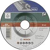 Bosch 2609256337 Meule à ébarber à moyeu déporté pour Métaux Diamètre 125 mm Diamètre d'alésage 22,23 Epaisseur 6 mm