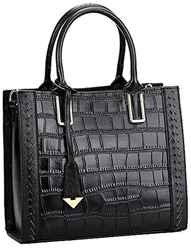 Menschwear Ladies Genuine Leather Handbag Elegant Bags Red Black