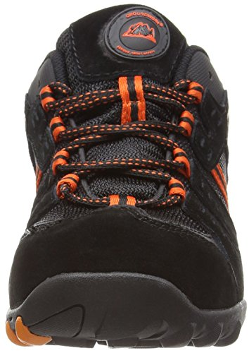 Groundwork GR02 N, Chaussures de sécurité homme noir/orange