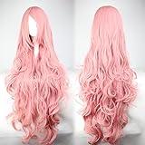 Perücke Pink Rosa ca. 90cm für VOCALOID Luka Cosplay oder Schaufensterpuppen Karneval oder Mottoparties - CC-WIG-235A