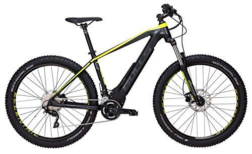 Bulls E-Bike Modell E-Stream EVO 2 (2017) Elektrofahrrad 27.5 Zoll, E-Mountainbike - Lithium Ionen Akku, 650Wh, 20 Gang-Kettenschaltung, schwarz-gelb