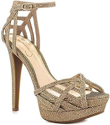 Jessica Simpson Syl 'la plataforma vestido sandalias