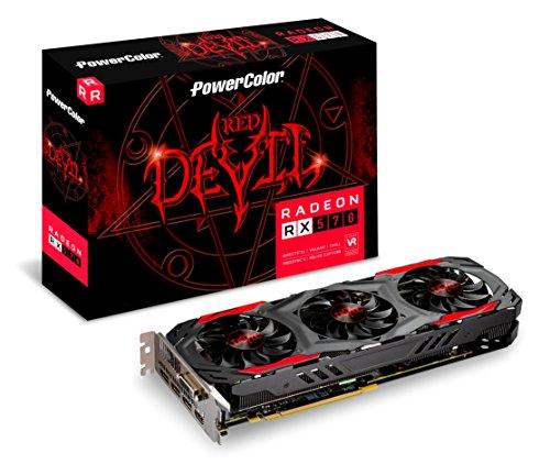 PowerColor AXRX 570 4GBD5-3DH/OC Grafikkarte, 2GB Speicher grau