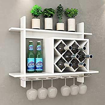 costway weinregal mit weinglashalter flaschenregal. Black Bedroom Furniture Sets. Home Design Ideas