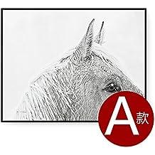 Cavallo Paintsh Nordic Living room decoration pittura Ufficio dipinti appesi personalità parete di sfondo dipinto moderno minimalista di dipinti murali, frame size: 92cm * 72cm, Tela Box: Scatola nera, un paragrafo unico prezzo