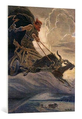 kunst für alle Quadro su Tela: Max Koch Donar-Thor - Stampa Artistica di Alta qualità, Tela con intelaiatura in Legno, Quadro Pronto per Essere Appeso, 75x100 cm