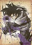 "Poster Dragon Ball ""Wanted"" Black Goku - A3 (42x30 cm)"