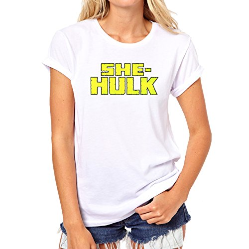 She Hulk Green Letters Women Are The Best Damen T-Shirt Weiß
