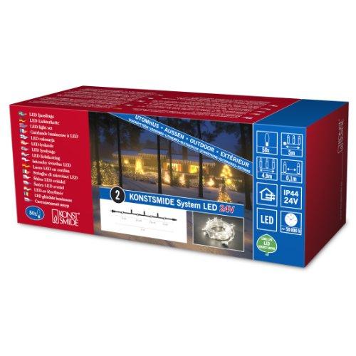 Konstsmide 4650-103 LED Hightech System Erweiterung/Lichterkette / für Außen (IP44) / 100 warm weiße Dioden/transparentes Kabel